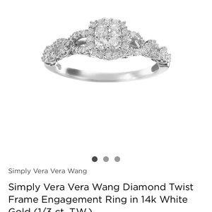 Vera wang engagement ring size 7